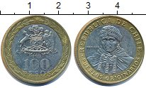 Изображение Дешевые монеты Чили 100 песо 2013 Биметалл XF