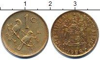 Изображение Дешевые монеты ЮАР 1 цент 1988 Медь XF