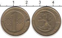Изображение Дешевые монеты Финляндия 1 марка 1994 Латунь