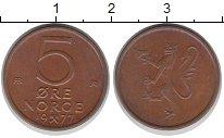 Изображение Дешевые монеты Норвегия 5 эре 1977 Медь XF-