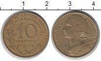 Изображение Барахолка Франция 10 сентимо 1975 Латунь XF