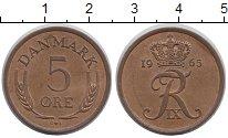 Изображение Барахолка Дания 5 эре 1965 Латунь XF-