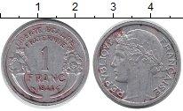 Изображение Барахолка Франция 1 франк 1944 Алюминий VF