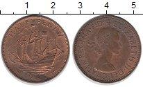 Изображение Барахолка Великобритания 1/2 пенни 1966 Медь XF