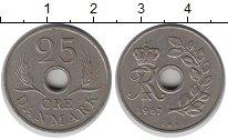 Изображение Барахолка Дания 25 эре 1967 Медно-никель XF-