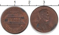 Изображение Дешевые монеты США 1 цент 1989 Медь XF