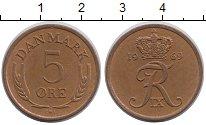 Изображение Барахолка Дания 5 эре 1969 Латунь XF-