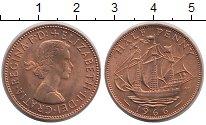 Изображение Барахолка Великобритания 1/2 пенни 1966 Медь XF+
