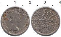 Изображение Барахолка Великобритания 6 пенсов 1963 Медно-никель XF