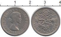 Изображение Барахолка Великобритания 6 пенсов 1966 Медно-никель XF