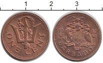 Изображение Барахолка Барбадос 1 цент 1982 Медь XF