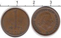Изображение Барахолка Нидерланды 1 цент 1973 Медь XF-