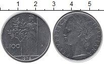 Изображение Дешевые монеты Италия 100 лир 1976 нержавеющая сталь VF