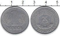Изображение Барахолка ГДР 1 марка 1975 Алюминий XF-