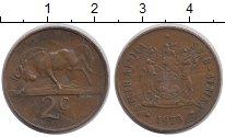 Изображение Дешевые монеты ЮАР 2 цента 1973 Медь XF-