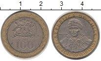 Изображение Дешевые монеты Чили 100 песо 2008 Биметалл XF
