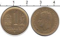 Изображение Дешевые монеты Испания 1 песета 1980 Латунь XF