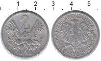 Изображение Дешевые монеты Польша 2 злотых 1960 Алюминий VF