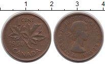 Изображение Дешевые монеты Канада 1 цент 1958 Медь XF-