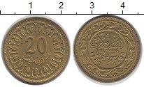 Изображение Дешевые монеты Тунис 20 миллим 1983 Латунь XF+