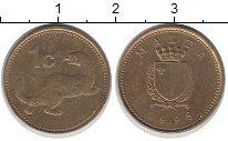 Изображение Барахолка Мальта 1 цент 1998 Латунь XF