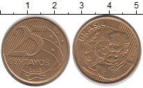 Изображение Дешевые монеты Бразилия 25 сентаво 2013 Латунь-сталь XF