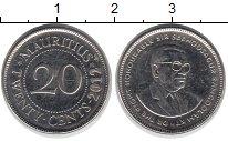 Изображение Барахолка Маврикий 20 центов 2012 Медно-никель XF