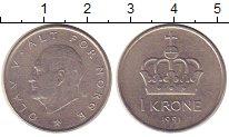 Изображение Барахолка Норвегия 1 крона 1991 Медно-никель XF