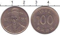 Изображение Барахолка Южная Корея 100 вон 1995 Медно-никель XF