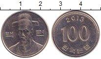 Изображение Дешевые монеты Южная Корея 100 вон 2013 Медно-никель XF