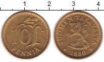 Изображение Дешевые монеты Финляндия 10 пенни 1980 Бронза XF