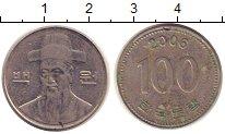 Изображение Дешевые монеты Южная Корея 100 вон 2006 Медно-никель XF-