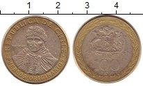 Изображение Дешевые монеты Чили 100 песо 2012 Биметалл VF+