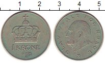 Изображение Дешевые монеты Норвегия 1 крона 1983 Медно-никель VF+
