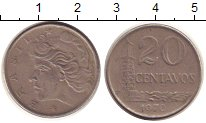 Изображение Дешевые монеты Бразилия 20 сентаво 1977 Медно-никель VF+