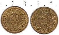 Изображение Дешевые монеты Тунис 20 миллим 1988 Латунь XF
