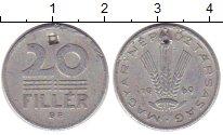 Изображение Дешевые монеты Венгрия 20 филлеров 1969 Алюминий VG