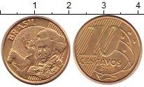 Изображение Дешевые монеты Бразилия 10 сентаво 2005 Латунь XF