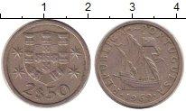 Изображение Дешевые монеты Португалия 2 1/2 эскудо 1969 Медно-никель XF-