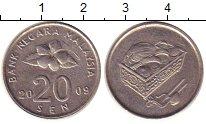 Изображение Дешевые монеты Малайзия 20 сен 2009 Медно-никель VF