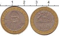 Изображение Дешевые монеты Чили 100 песо 1998 Биметалл VF