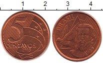 Изображение Дешевые монеты Бразилия 5 сентаво 2015 Железо XF
