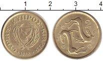 Изображение Дешевые монеты Кипр 2 цента 1988 Медно-никель XF-