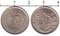 Изображение Барахолка Сингапур 10 центов 1980 Медно-никель XF+