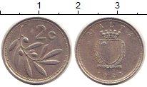 Изображение Барахолка Мальта 2 цента 1993 Медно-никель VF