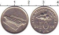 Изображение Дешевые монеты Малайзия 10 сен 2009 Медно-никель XF-