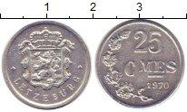 Изображение Дешевые монеты Люксембург 25 сантим 1970 алюминий, магний VF