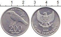 Изображение Дешевые монеты Индонезия 200 рупий 2003 Алюминий XF