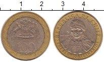 Изображение Дешевые монеты Чили 100 песо 2009 Биметалл VF индеец Мапуче