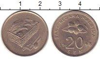Изображение Дешевые монеты Малайзия 20 сен 1998 Медно-никель XF